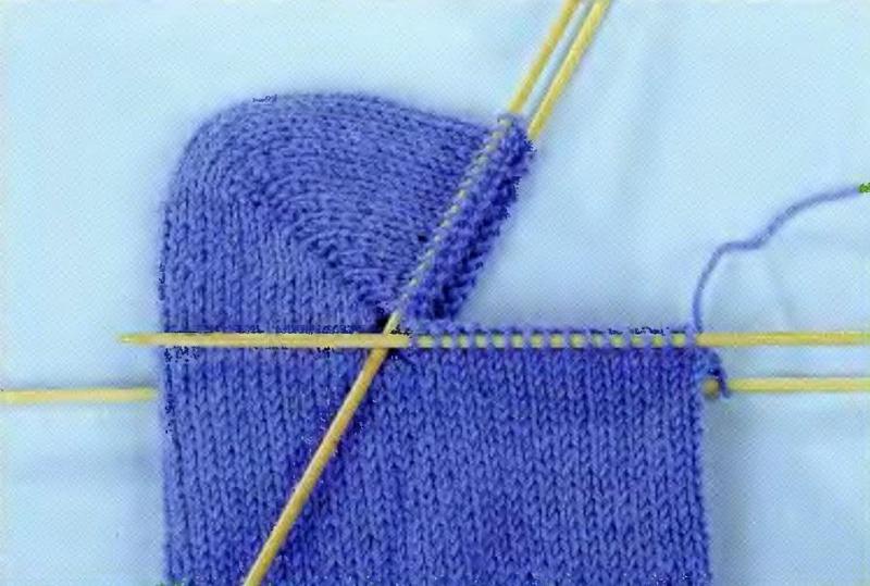Как заменить пятку в вязаных носках. Часть 2
